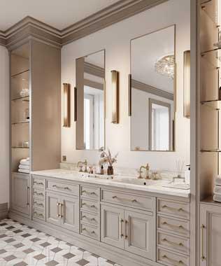 AMclassic - Directoire bathroom